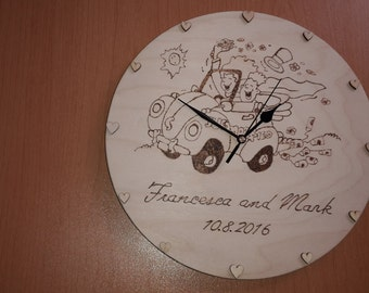 Personlised wedding couple clock