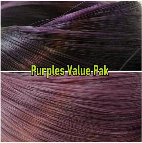 Dark Purple & Mauve Purple XL 4oz 2 Color Value Pak Nylon Doll Hair Hanks Rerooting Monster High Ever After Barbie My Little Pony Crissy