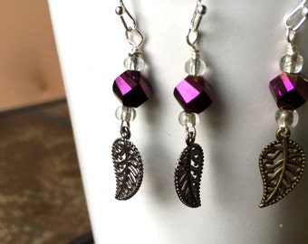 CLEARANCE - Purple shimmer with metal leaf