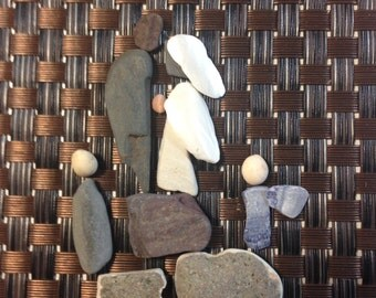 Pebble Art from the bottom of Nova Scotia's Bay of Fundy