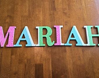Custom Painted Wooden Nursery Letters