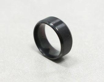 Black Stainless Steel Ring Band for Men