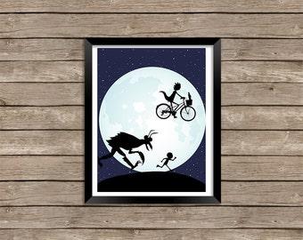 E.T. Rick and Morty Digital Print
