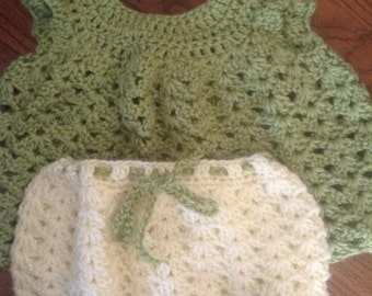 Infant dress and bloomers
