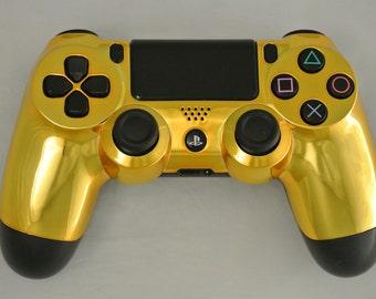 Sony PS4 Controller Custom Chrome Gold Color