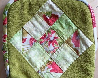 Vintage Japanese silk kimono pouch