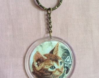 Cat + Mouse Keychain