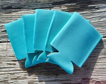 25 Blank Robin's Egg Blue Beverage Insulators   Can Coolies   FREE SHIPPING