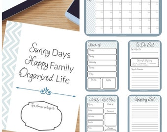Organizing Planner Dated May 2016-January 2017