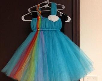 MLP Rainbow Dash Inspired Tutu Dress