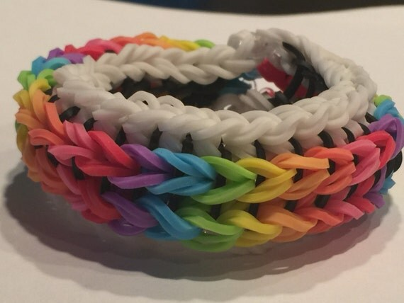Sailor's Pinstripe Ladder Rainbow Loom by MilesRainbowLoom ...