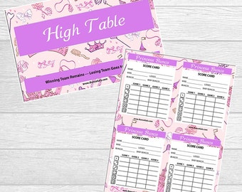 Princess Bunco Printables