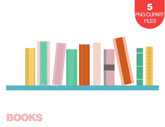 Bücherreihe clipart  Books Clipart, Stack of Books Clipart, Books on Shelf Illustration ...
