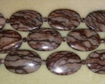 SALE! Chocolate jasper jasper beads jasper pendant bead brown pendant bead oval beads focal beads oval focal bead 20x30mm oval beads