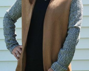 BALANCE * bi material for woman jacket