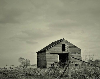 Rustic Barn Photography In Black and White