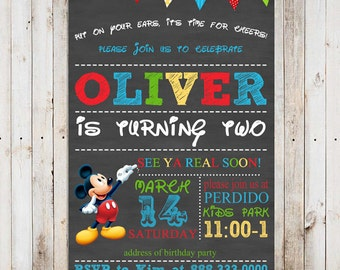 Mickey Mouse birthday invitation printable