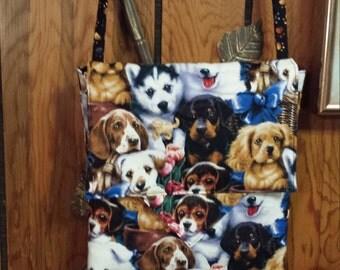 puppies cross body bag