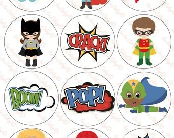 Superhero Cupcake Toppers - Version 3