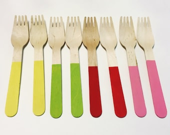 Eco-Friendly Disposable Wooden Forks