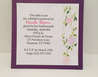 Invitations, Bridal Showet