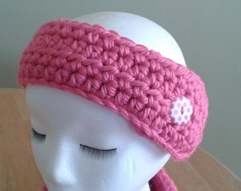 Ear Warmer / Headband - pink