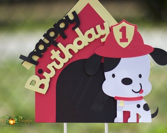 Fire Dog Cake Topper, Fire Dog Birthday Decorations, Fire Dog Birthday Decorations, Dog Birthday Decorations