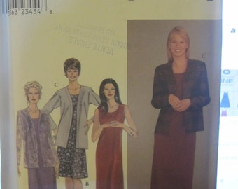 BOSS SIMPLICITY 8937 long or short dress with jacket for women