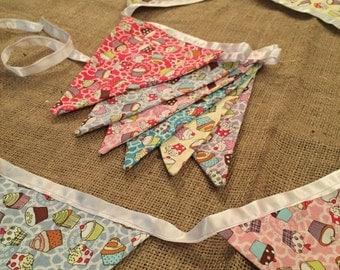 Cupcake fabric bunting