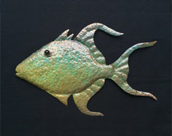 Copper Queen Triggerfish Sculpture