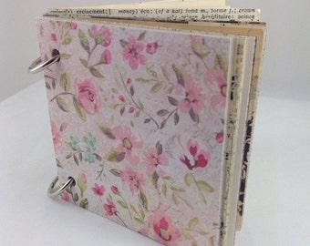Mixed Paper Journal, Journal, Mixed Paper Journal, Journal, Smash Book, Art Book, Junk Journal, Mixed Paper Junk Journal 4x4103