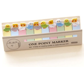 Cute Bird Sticky Note Markers