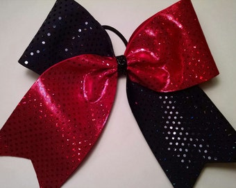 Red/Black Bling Bow