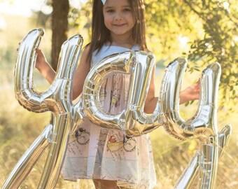 Yay Balloon - Yay Cursive Balloon - Yay Script Balloon - Engagement Party Balloon Decor - Wedding Balloon Decor - Bridal Shower Decor - Bach