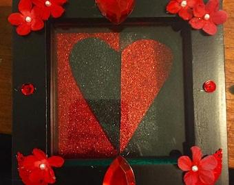 Black & Red Heart Shadow Box
