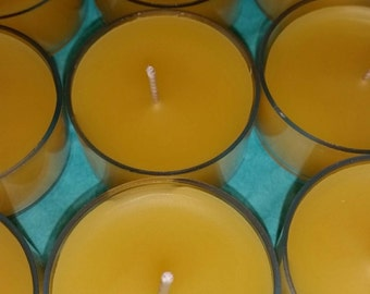 12 Beeswax Tea Light Candles