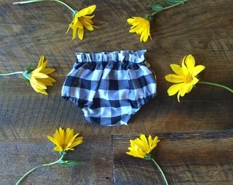 Black and White Classic Gingham Bloomers