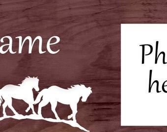 Horse Inspired Custom Name Board