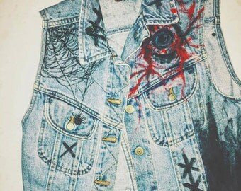 One of a Kind Custom Denim Vest