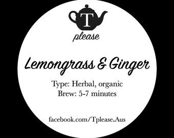 Lemongrass and Ginger organic loose leaf tea