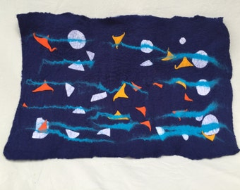 Hand Felted Wool artwork/Table Runner