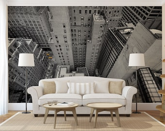 New York top view MURAL, self adhesive peel and stick 3d wall mural, wallpaper, wall sticker