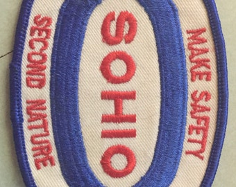 Rare Vintage Sohio Safety Campaign Patch - 1983