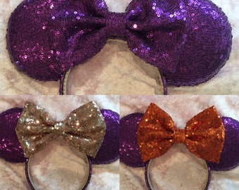 Purple all sequin ears