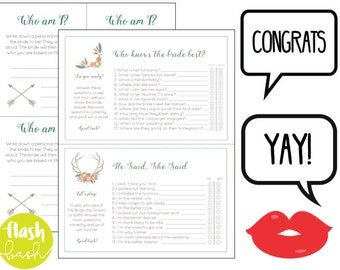 Bridal Shower Games and Photobooth Background