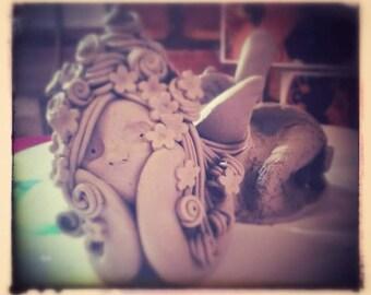 Handmade ceramic fairy