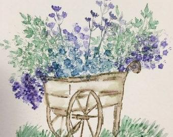 Handmade Watercolor Blank Notecard