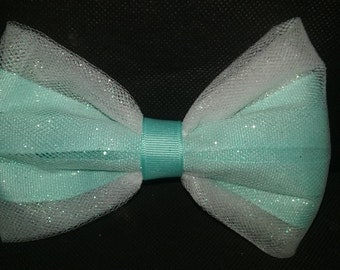 Thick aqua bow
