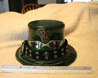 Steampunk, Fused Glass, Decorative Hat