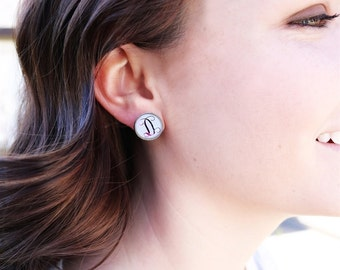 Reflection Collection Initial Earrings